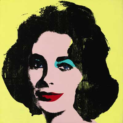 """Warhol, """"Liz #1 (Early Colored Liz),"""" 1963 Presale estimate: $20-$30 million 2013 Andy Warhol Foundation for the Visual Arts/Artists Rights Society (ARS), New York"""
