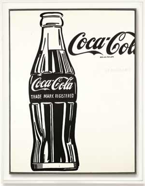 """Andy Warhol, """"Coca Cola (3),"""" 1962 Presale estimate: $40-60 million"""