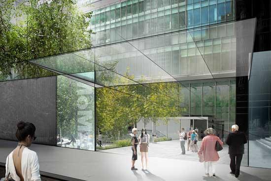 Concept sketch for Sculpture Garden entrance on 54th Street  © 2014 Diller Scofidio + Renfro