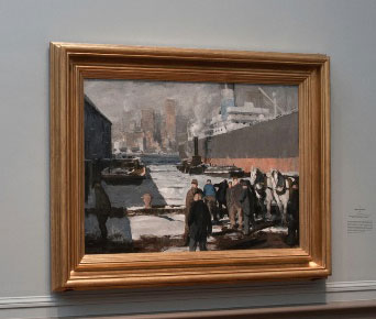 """George Bellows, """"Men of the Docks,"""" 1912, as installed last year in exhibition at National Gallery, Washington Photo: Rob Shelley, © 2012 National Gallery, Washington"""