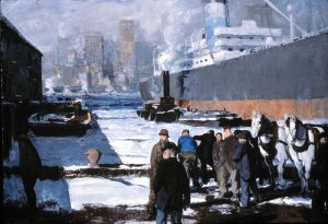 """George Bellows, """"Men of the Docks,"""" 1912"""