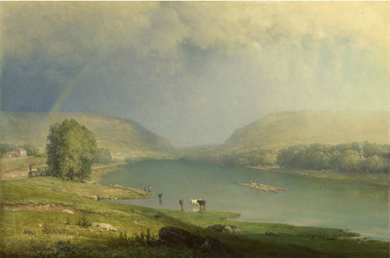 """George Inness, """"The Delaware Water Gap,"""" c. 1857, National Ballery, London"""