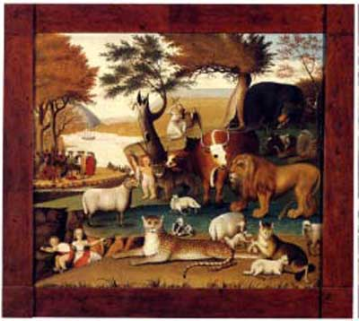 "Edward Hicks, ""The Peaceable Kingdom with the Leopard of Serenity,"" 1846-48"