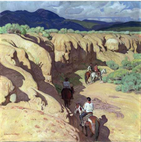 "Ernest Martin Hennings. ""Through the Arroyo"""