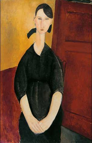 "Modigliani, ""Portrait de Paulette Jourdain,"" ca. 1919 Sotheby's presale estimate: $25-35 million"