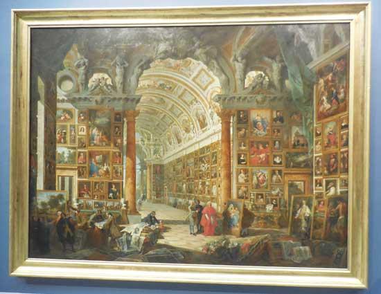 "Giovanni Paolo Panini, ""The Picture Gallery of Cardinal Silvio Valenti Gonzaga,"" 1749 Photo by Lee Rosenbaum"