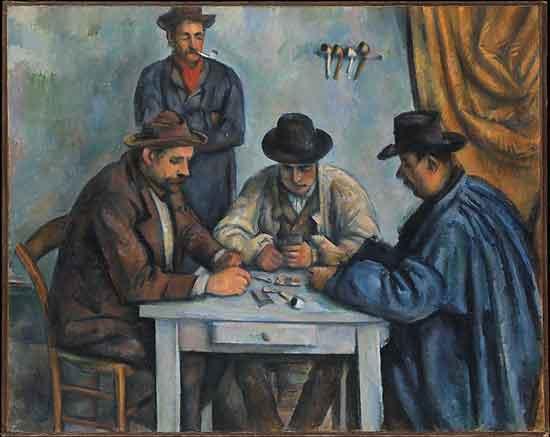 "Cézanne, ""The Card Players,"" 1890-92, Metropolitan Museum"