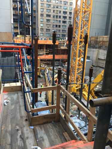 Construction site adjoining MoMA's current building, as it appeared Tuesday Photo by Lee Rosenbaum