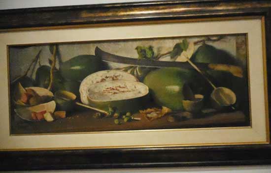 "Oller, ""Gourds and Machete,"" c. 1912-14. Collection of José Enrique and Mary Jane Fernández Photo by Lee Rosenbaum"