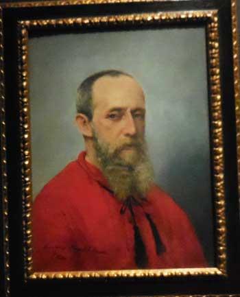 """Francisco Oller, """"Self-Portrait,"""" c. 1889-92, Museo de Historia, Antropología y Arte, Universidad de Puerto Rico, Recinto de Rio Photo by Lee Rosenbaum"""