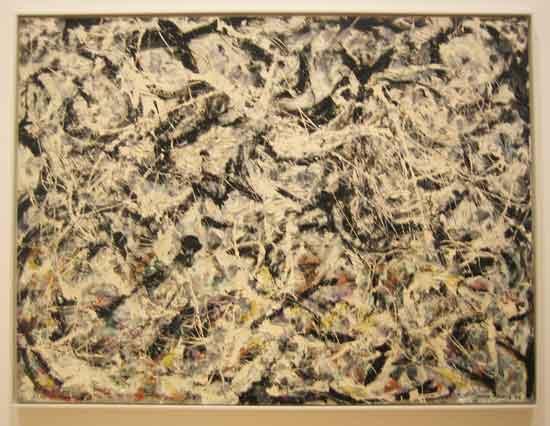"Pollock, ""Greyed Rainbow,"" 1953, Art Institute of Chicago Photo by Lee Rosenbaum"