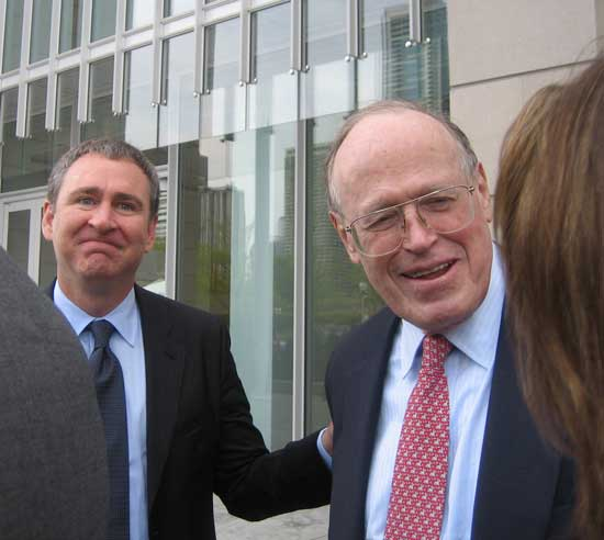 Ken Griffin with AIC trustee John Nichols at the Modern Wing opening Photo by Lee Rosenbaum