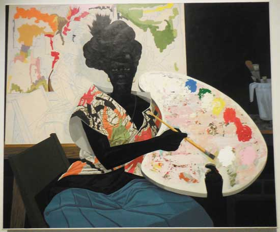 "Kerry James Marshall, ""Untitled,"" 2009, Yale University Art Gallery Photo by Lee Rosenbaum"