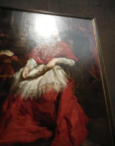 """""""Cardinal Guido Bentivoglio,"""" 1623, Galleria Palatina, Palazzo Pitti Photo by Lee Rosenbaum"""