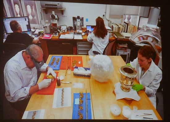 Frick conservators at work Photo from Frick's slideshow