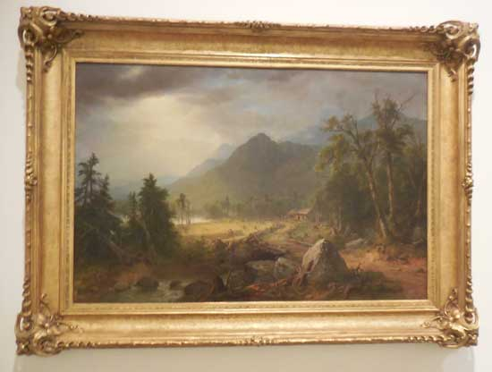 """Durand, """"First Harvest in the Wilderness,"""" 1855"""