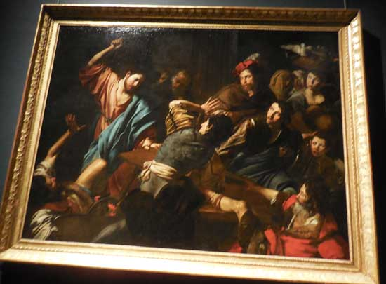 """""""Christ Driving the Merchants from the Temple,"""" ca. 1618-22, Palazzo Barberini, Rome"""