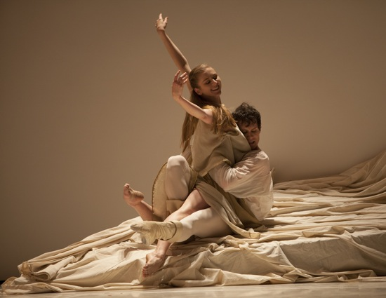 The wedding night: Juliet (Carla Körbes)  and her Romeo (Seth Orza). Photo: Angela Sterling