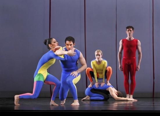 Taylor's Junction. L to R: Parisa Khobdeh, Robert Kleinendorst, Jamie Rae Walker on Michael Novak, Sean Mahoney. Photo: Paul B. Goode