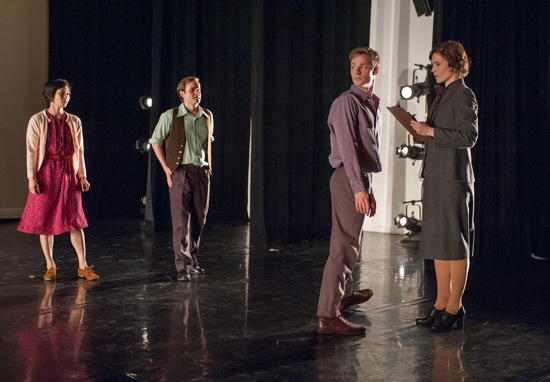 The Office: (L to R) Maile Okamura, Dallas McMurray, Billy Smith, Laurel Lynch. Photo: Stephanie Berger