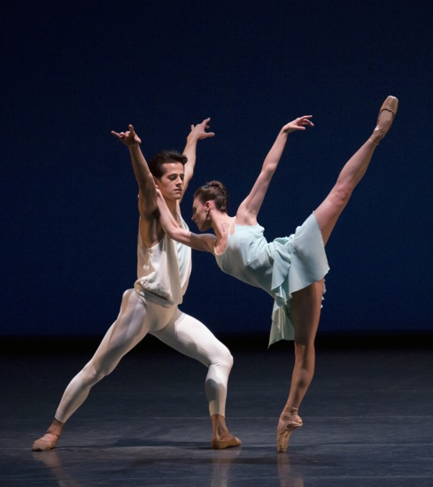 Tiler Peck and Robert Fairchild in Christopher Wheeldon's A Place for Us. Photo: Paul Kolnik