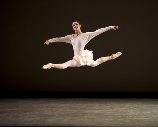 Kristi Boone soars through Mark Morris's Drink To Me Only With Thine Eyes. Photo: Gene Schiavone