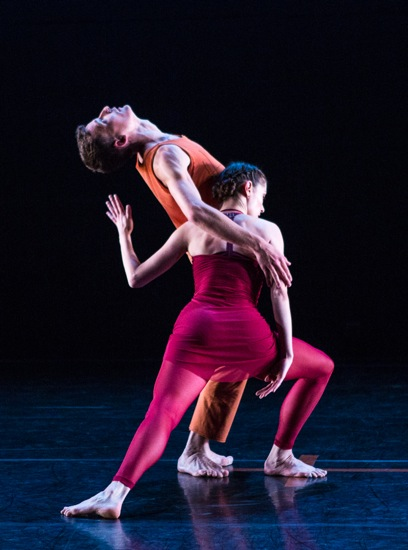 Dylan Crossman and Melissa Toogood in the final duet of Tanowitz's The Spectators. Photo: Yi-Chun Wu