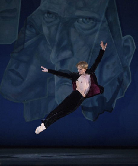 David Hallberg in Ratmansky's Chamber Symphony. Photo: Marty Sohl
