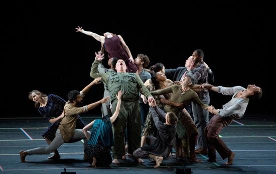 Bill T. Jones/Arnie Zane Dance Company and SITI Company mingle. Photo: Cory Weaver