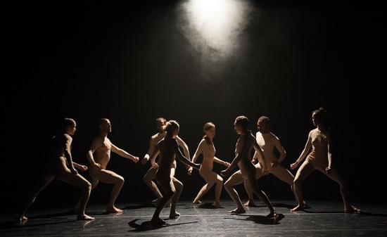 L-E-V dancers in House by Sharon Eyal and Gai Behar. Photo: Christopher Duggan