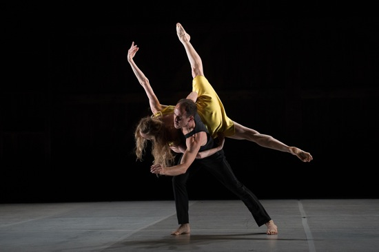 Wendy Whelan and Brian Brooks in Brooks's First Fall. Photo: Christopher Duggan