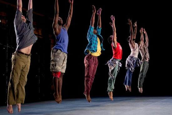 "Kyle Abraham's Pavement. L to R: Matthew Baker, Chalvar Monteiro, Maleek Washington, Rena Butler, Jeremy ""Jae"" Neal, Eric Williams"