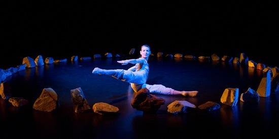 Molissa Fenley in The Floor Dances. Photo: Ian Gibson