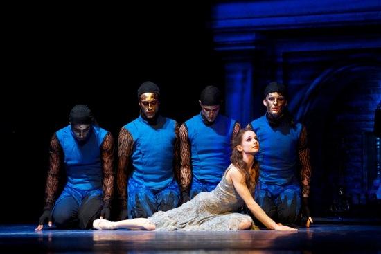 San Francisco Ballet's Cinderella (Maria Kochetkova) and her four Fates in Wheeldon's Cinderella. Photo: Erik Tomasson
