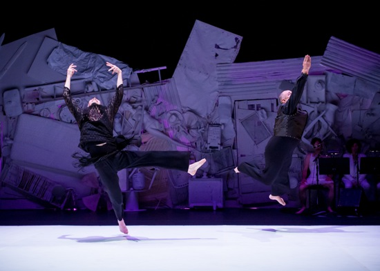 Karl Rogers (L) and David Dorfman in Dorfman's Come, and Back Again. Photo: Ian Douglas