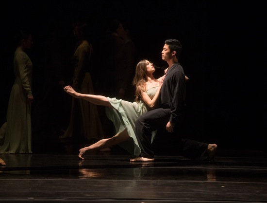 Fourth-year Juilliard students Kristina Bentz and Bynh Ho in Pina Bausch's Wind von West. Photo: Rosalie O'Connor