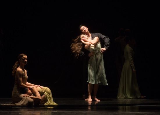 (L to R): Taylor Drury, Tsai-Wei Tien, Kristina Bentz, and Bynh Ho in Wind von West. Photo: Rosalie O'Connor
