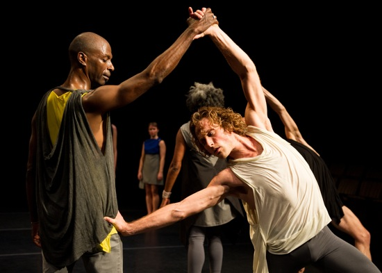 David Thomson (L) and Ryan Kelly in Bleed. Photo: Ian Douglas