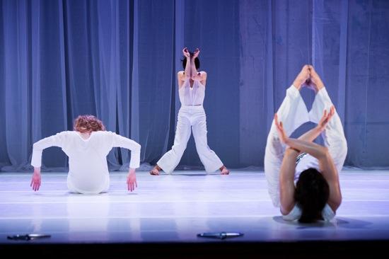 (L to R:) Rebecka Stillman, Cecilia Eliceche, and Eleanor Bauer shape up.  Photo: Ian Douglas