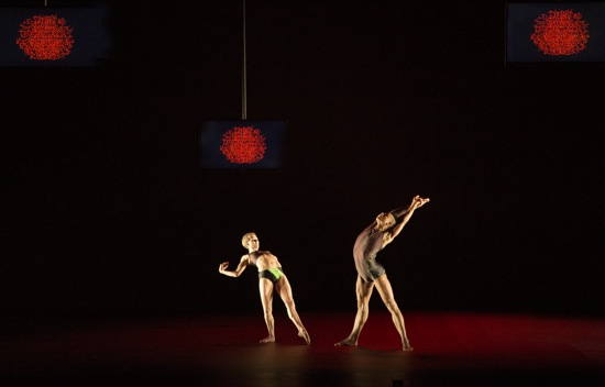 Jessica Wright and Louis McMiller in Wayne McGregor's Atomos. Photo: Ravi Deepres