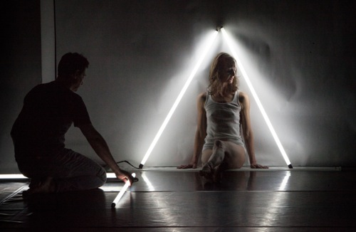Confined and enshrined: Kimberly Bartosik and Roderick Murray in You are my heat and glare. Photo: Yi-Chun Wu