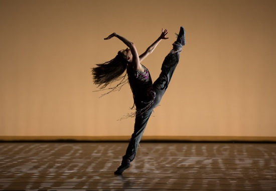 Juilliard's Kristina Bentz in The Jig Is Up. Photo: Rosalie O'Connor
