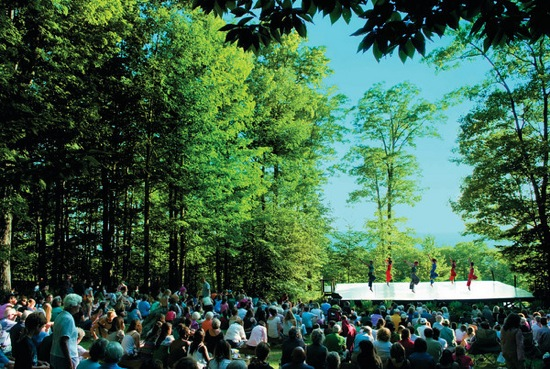 A 2007 Jacob's Pillow Inside/Out performance (Erica Esner Coop). Photo: Christopher Duggan