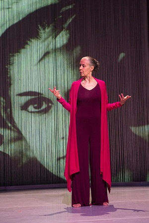 Carmen de Lavallade in front of her younger self in As I Remember It. Photo: Christopher Duggan