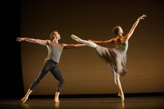 Russell Janzen and Emily Kikta in Emery LeCrone's Opus 19. Andante. Photo: Christopher Duggan