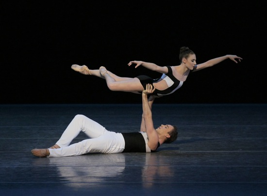 Tiler Peck and Tyler Angle in Benjamin Millepied's Two Hearts (wearing the original costumes). Photo: Paul Kolnik