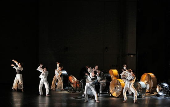 Members of the Trisha Brown Dance Company in Brown's I'm going to toss my arms over there—if you can catch them they're yours. Photo: Cory Weaver