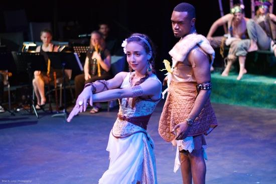 Titania (Imani Jade Powers) and Oberon (Jason Duvernau) of A Midsummer Night's Dream. Photo: Brian E. Long