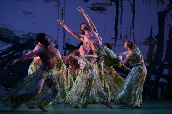 Handelian turbulence in Acis and Galatea. Members of the Mark Morris Dance Group. Photo: Ken Friedman
