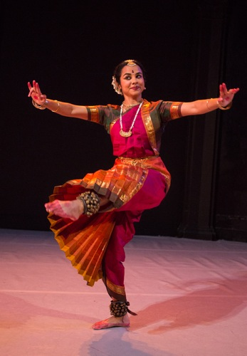 Malini Srinivasan in her Pannagendra Sayana. Photo: Yi-Chun Wu